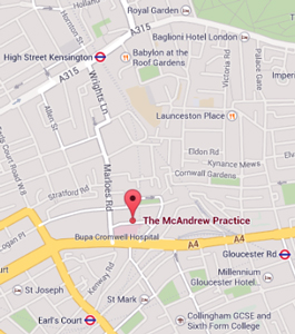 The McAndrew Practice location map